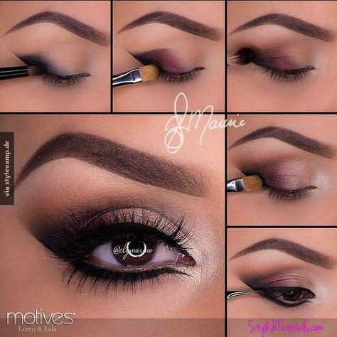 wunderschönes Augen Make up