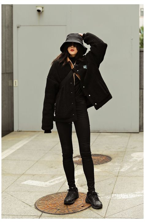 winter outfits korean street style seoul