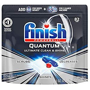 Finish Quantum 82ct Dishwasher Detergent Powerball Ultimate Clean Shine Dishwashing Tablets Dish Tabs Home Storage Dishwasher Detergent