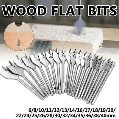 Details About Cy 1pc 6 40mm Flat Wood Drill Bits Carbon Steel Spade Hex Shank Cutter Tool Mod In 2020 Wood Drill Bits Drill Bit Sets Drill Bits