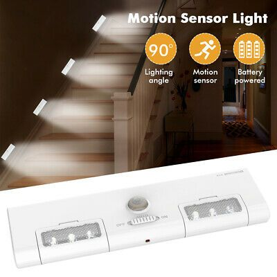 Battery Operated Led Motion Sensor Closet Light Under Cabinet Kitchen Er In 2020 Motion Sensor Closet Light Closet Lighting Under Cabinet Lighting Wireless