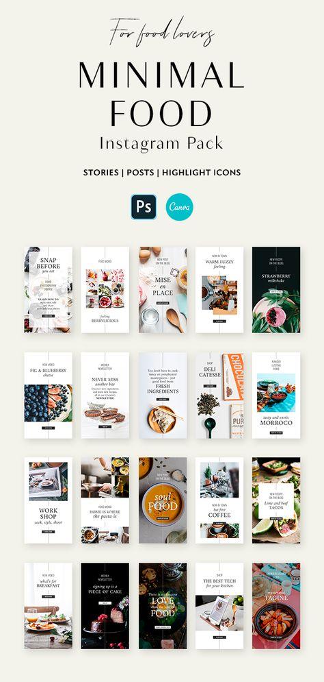 Minimal Food Instagram Pack