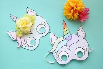 Plantilla De Mascara De Unicornio Para Imprimir Gratis Plantilla De Mascara Manualidades Imprimibles Unicornio