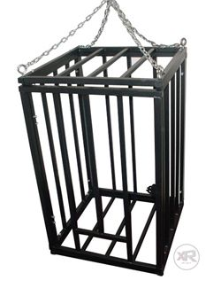 kinkykink | Hanging Steel Cage | Extreme Restraints #bdsm