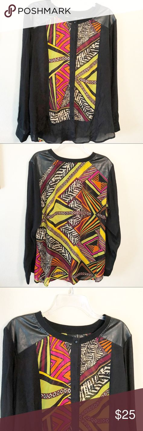 Emma K | Multicolor geometric button cardigan This cardigan is so cool! It makes geometric designs with colorful stripes and zebra print! Such a fun piece! Would look great over a dress, or even paired with slacks.   In great condition!   Measurements are in the pictures. Emma K Sweaters Cardigans