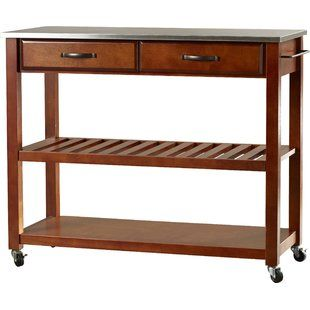 Gracie Oaks Delesha Multifunction Prep Table With Wood Top Birch Lane Kitchen Cart Furniture Wooden Tops