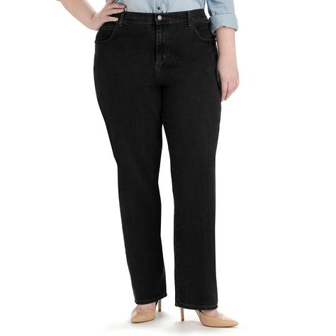 Riders by Lee Indigo Womens Plus-Size Comfort Collection Straight Leg Jean