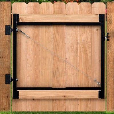 Adjust A Gate Steel Frame Gate Building Kit 36 60 Wide Opening Up To 4 High Puertas De Acero Puertas De Jardin Decoracion De Jardines Exteriores