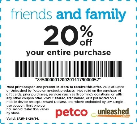 photograph regarding Petco Printable Coupon $10 Off $50 titled Petco Printable Discount codes Carisoprodolpharm with Petco