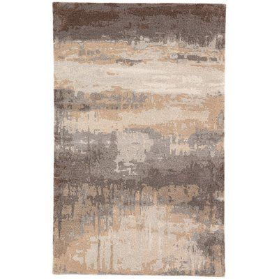 Jaipur Living Ilsted Abstract Handmade Tufted Gray Tan Area Rug