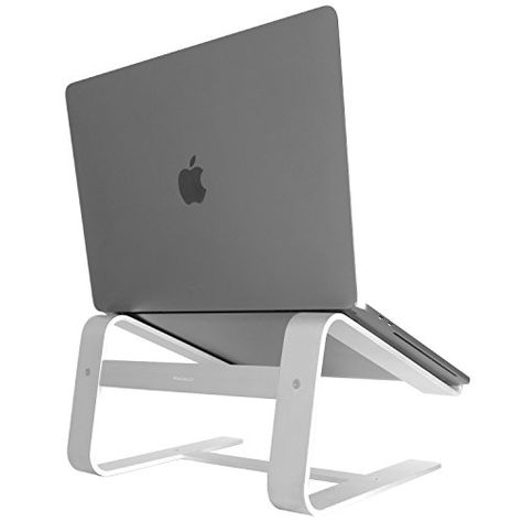 Macally Aluminum Laptop Stand for Desk & for All Apple MacBook 12 / Pro / Air - Ideas of Laptop Stands - Macally Aluminum Laptop Stand for Desk & for All Apple MacBook 12 / Pro / Air Laptop Desk, Apple Laptop, Macbook Air Pro, Macbook Laptop, Room Ideas Bedroom, Best Laptops, Chromebook, Laptop Accessories, Apple Products