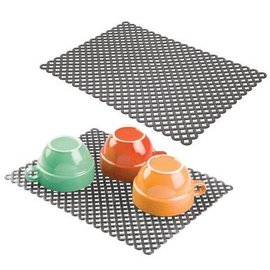 Mdesign Large Plastic Kitchen Sink Protector Mat Diamond Pattern