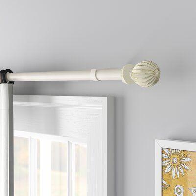 Three Posts Moriarty Adjustable Single Drapery Curtain Rod
