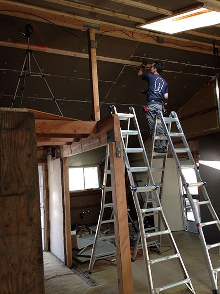 How We Turned Our House Into A Giant Foam Box Part Ii Ceiling Insulation Frugal Happy In 2020 Ceiling Insulation Insulation Attic Insulation