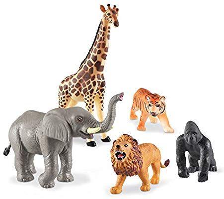 Amazon Com Learning Resources Jumbo Jungle Animals I Lion Tiger