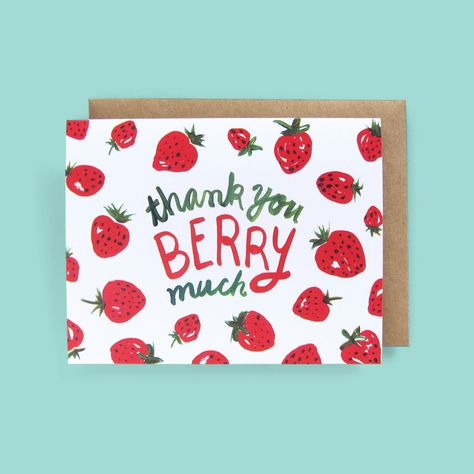 Cute Thank You Cards, Thank You Card Design, Thank You Gifts, Cute Cards, Thank You Puns, Handmade Thank You Cards, Greeting & Note Cards, Pokerface, Pun Card