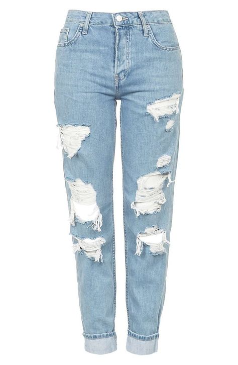 Find perfect-fitting jeans at Topshop. From skinny jeans to stylish high-risers, snap up new season denim now. Topshop Jeans, Light Wash Ripped Jeans, Blue Ripped Jeans, Torn Jeans, Distressed Denim Jeans, Bleached Jeans, Descolorindo Jeans, Slouch Jeans, Destroyed Jeans