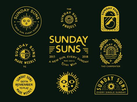 Sunday Sun No. 167 by Tad Carpenter on Dribbble