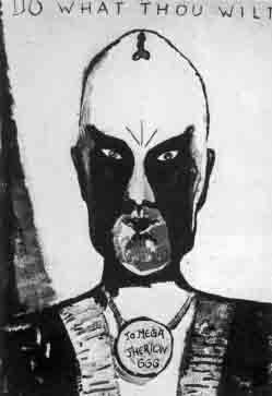 """This was precisely what Crowley taught. Here is another picture drawn by Crowley himself with the phrase """"Do What Thou Wilt"""" (BELOW RIGHT), across the top that the rock group KISS clearly imitated.(BELOW LEFT)."""