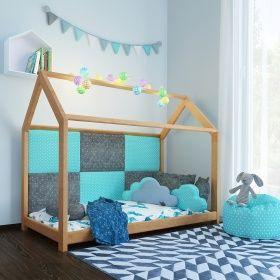 Vitalispa Kinderbett 90x200 Cm Kinderhaus Massivholz Bett Kinder