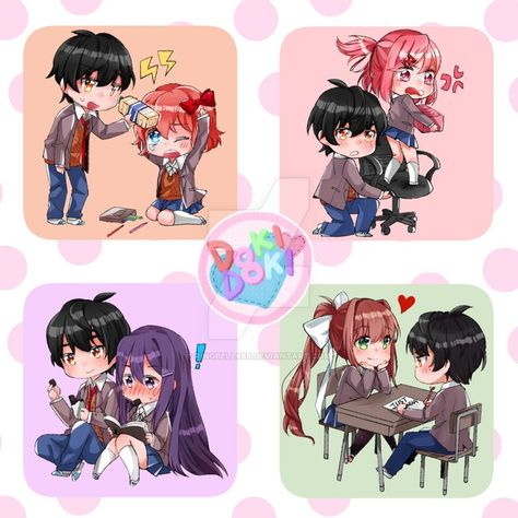 if you were MC which panel would you choose (by ringbell666 on DeviantArt) : DDLC