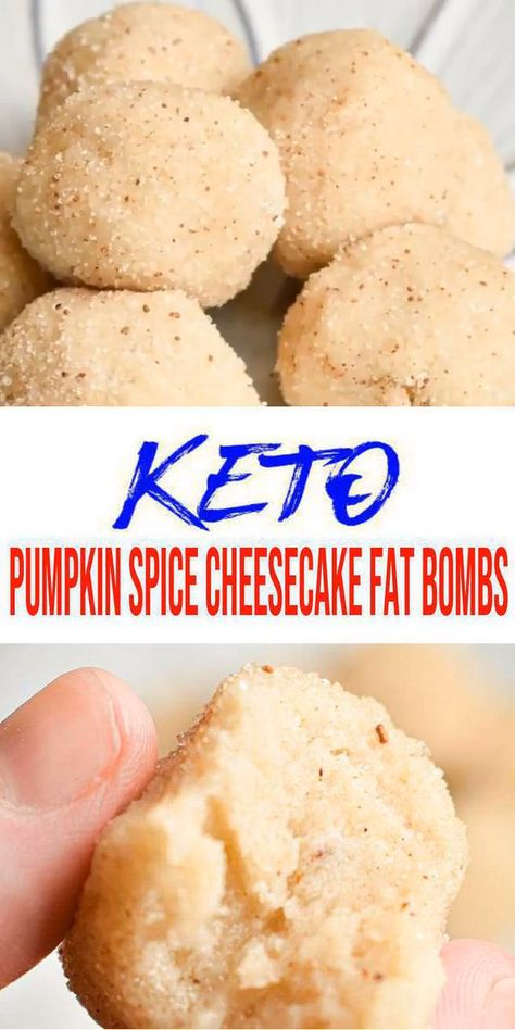 BEST Keto Fat Bombs! EASY Low Carb Pumpkin Spice Cheesecake Fat Bomb Idea \u2013 Quick & Simple Ketogenic Diet Recipe \u2013 Completely Keto Friendly Enjoy these keto pumpkin spice cheesecake fat bombs anytime of year! An easy and simple low carb recipe for the best fat bombs. I know it\u2019s that time of year for pumpkin spice lattes and everything\u2026