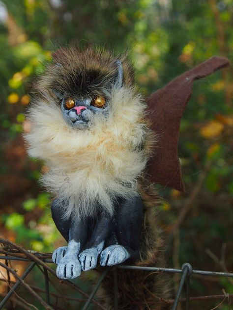 Items similar to Hatchling Winged Cat on Etsy