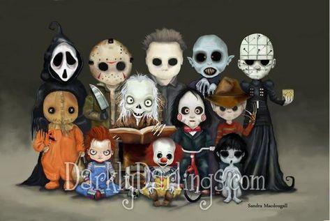 Horror Villains Art / Halloween Decor