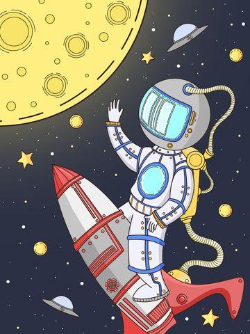 رائد فضاء الكون كوكب الفضاء السماء المليئة بالنجوم رسمت باليد كرتون صورة توضيحية على Pngtree غير محفوظة الحقوق Space Drawings Planet Drawing Abstract Iphone Wallpaper