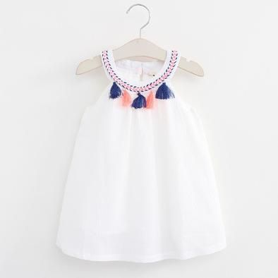 22e37efe681 Nation Style Kids Girls Ruffle Tassel Dresses Baby Girl Summer Cotton Dress  Babies Fashion Dress 2016 Children S Clothing Little G…
