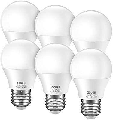 Govee Led 3w 25 Watt Equivalent Light Bulbs Warm White 2700k Led Energy Saving Light Bulbs E26 Med In 2020 Energy Saving Light Bulbs Saving Light Led Lighting Home
