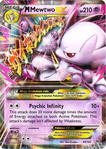 M Mewtwo EX 64//162 Breakthrough Set ULTRA RARE Pokemon Card VLP//NM