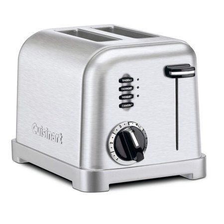 Cuisinart 2 Slice Metal Classic Toaster Cpt160 Silver In 2020 Stainless Steel Toaster Toaster Brushed Stainless Steel