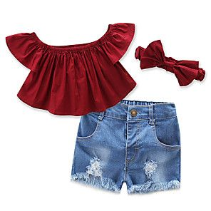 Scfcloth Kids Dresses Toddler Girls Off Shoulder Straps Tops Floral Skirts Clothing Set Outfits