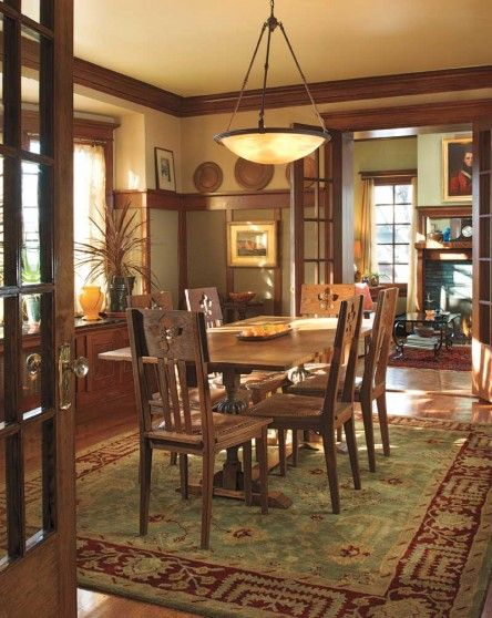 180 Best Craftsman Dining Room Ideas, Craftsman Lighting Dining Room Table And Chairs