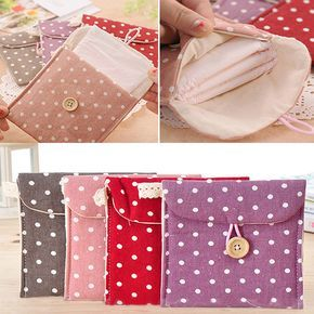 SimpleLif Women Sanitary Napkins Towel Pads Organizer Holder Small Articles Pouch Case Bag