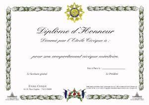 Exemple Modele Diplome D Honneur Gratuit Modele Diplome