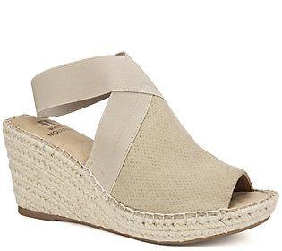 White Mountain Espadrille Wedge Sandals