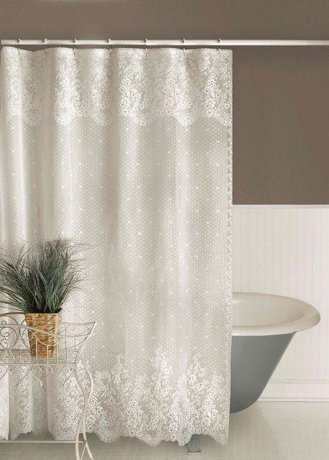 Floret Lace Shower Curtain Lace Shower Curtains White Shower
