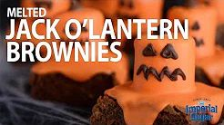Melting #Jack-O-Lanterns drip their #candy #marshmallow goodness all over rich #chocolate #brownies. This #kid-friendly #fall #dessert #recipe will have your #Halloween party-goers cackling with delight. Serve these cute #pumpkin sweet treats for the kid's at a school or neighborhood party. In this step-by-step #video we show you how to make them for the kid's as an after school #snack in October. For more Halloween treats & crafts, visit www.imperialsugar.com. #imperialsugar