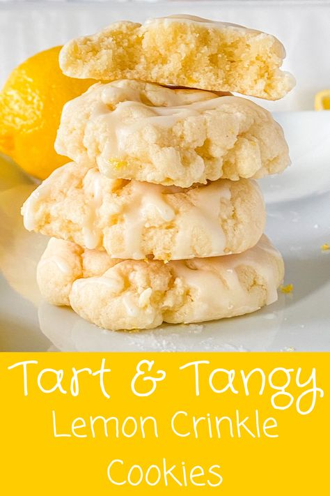 The perfect summertime cookie! Easy to make and a lemon-y punch of flavor!