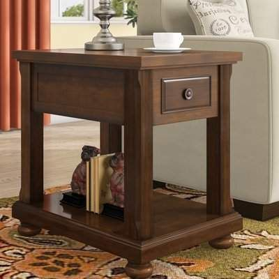 Three Posts Mcalester End Table With Storage Wayfair End Tables With Storage End Tables Chair Side Table