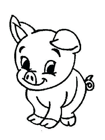 Image Result For Farm Animal Coloring Pages For Toddlers Cerdo Para Colorear Cerdo Dibujo Animales De Granja Bebes