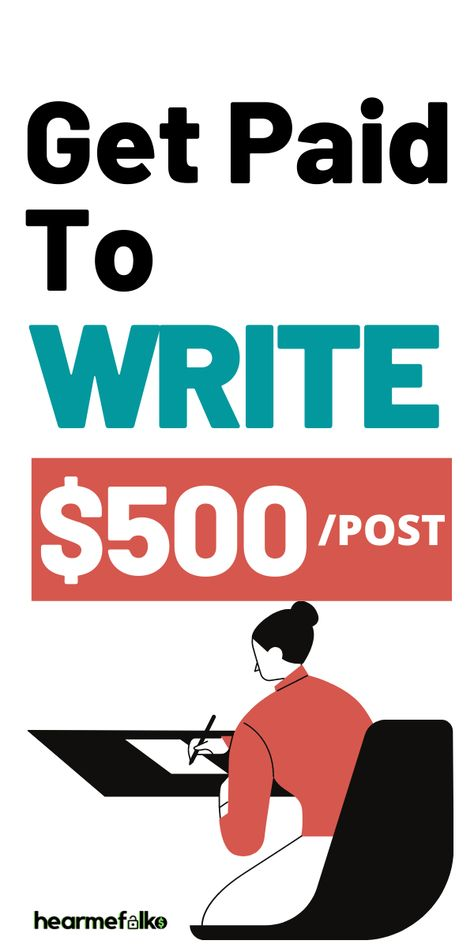 Write and Get Paid Instantly: 40 Sites Paying $500/Post | HearMeFolks