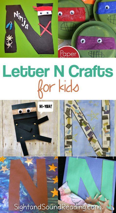 Letter N Crafts For Preschool Or Kindergarten Fun Easy And Educational Letter N Crafts Letter A Crafts Kindergarten Fun Preschool art activities for letter n