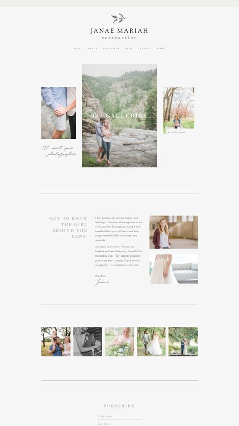 Squarespace Template Design