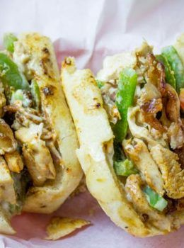 Chicken Madness Philly Sub Sandwiches Are A Georgetown University Tradition And An Amazing Alternative To With Images Slow Cooker Recipes Sandwiches Cheese Steak Sandwich