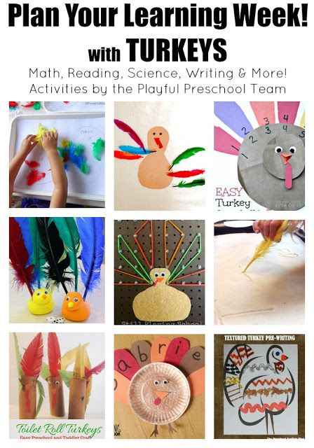 Turkey themed activities for preschoolers includes lessons for math, reading, science, writing and MORE!