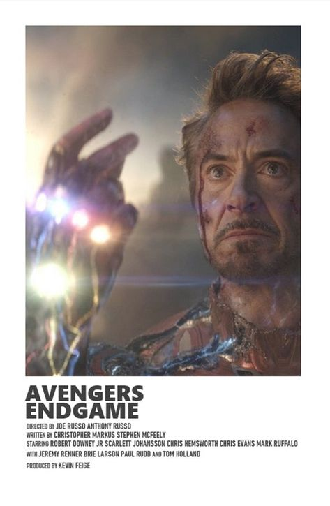 Avengers Endgame minimal A6 movie poster