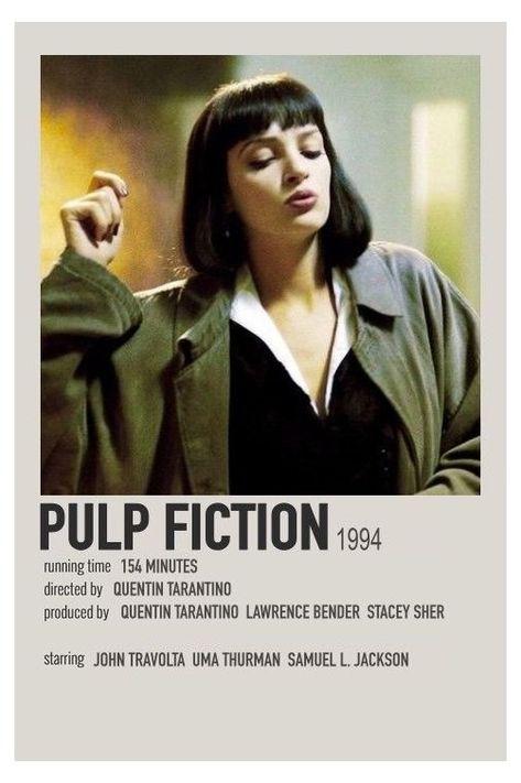 minimalist movie posters pulp fiction
